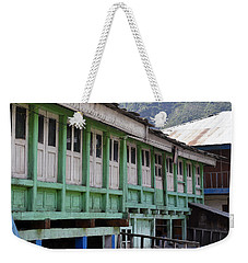Wooden Architecture Weekender Tote Bag