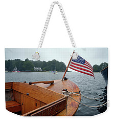 Wooden Boat And Pentwater Channel Weekender Tote Bag