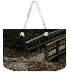 Weekender Tote Bag featuring the photograph Wooden Bridge by Kim Henderson