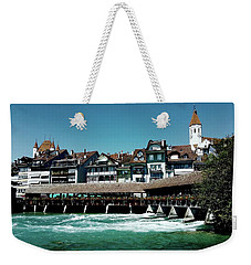 Weekender Tote Bag featuring the photograph Wooden Bridge by Mimulux patricia no No