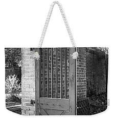 Wooden Garden Door B W Weekender Tote Bag