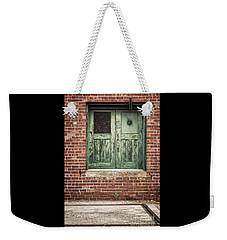 Wooden Green Doors  Weekender Tote Bag