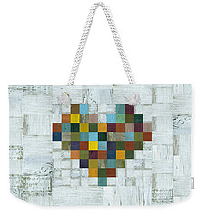 Wooden Heart 2.0 Weekender Tote Bag by Michelle Calkins