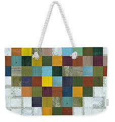 Weekender Tote Bag featuring the digital art Wooden Heart by Michelle Calkins