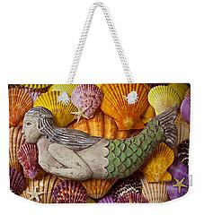Wooden Mermaid Weekender Tote Bag by Garry Gay