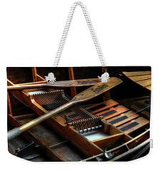 Wooden Rowboat And Oars Weekender Tote Bag