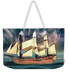 Wooden Ship Weekender Tote Bag by Michael Cleere