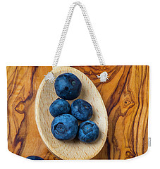 Wooden Spoon And Blueberries Weekender Tote Bag by Garry Gay