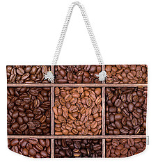 Wooden Storage Box Filled With Coffee Beans Weekender Tote Bag