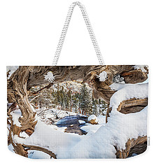 Wooden Window View  Weekender Tote Bag