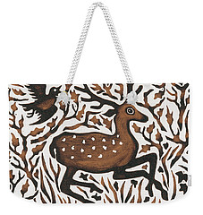 Woodland Deer Weekender Tote Bag