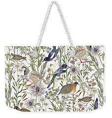 Woodland Edge Birds Weekender Tote Bag