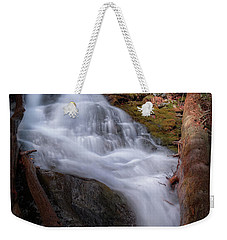 Weekender Tote Bag featuring the photograph Woodland Falls 2017 by Bill Wakeley
