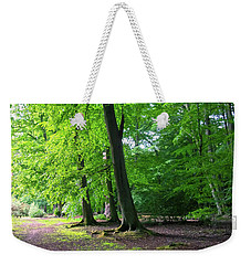 Weekender Tote Bag featuring the photograph Woodland Path by Anne Kotan