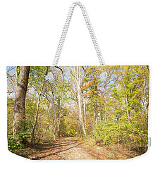 Woodland Path, Autumn, Montgomery County, Pennsylvania Weekender Tote Bag by A Gurmankin