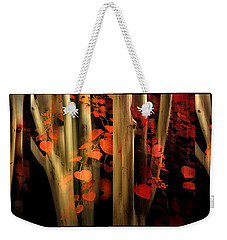 Weekender Tote Bag featuring the photograph Woodland Whispers by Jessica Jenney