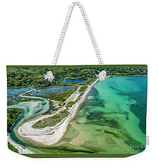 Weekender Tote Bag featuring the photograph Woodneck Beach by Michael Hughes