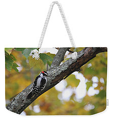 Woodpecker And Autumn Weekender Tote Bag