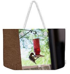 Woodpecker Having A Drink Weekender Tote Bag