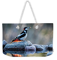 Woodpecker In Backlight Weekender Tote Bag by Torbjorn Swenelius