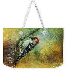 Woodpecker On Cherry Tree Weekender Tote Bag