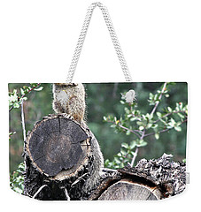 Woodpile Squirrel Weekender Tote Bag