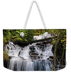 Woods And Waterfall Weekender Tote Bag