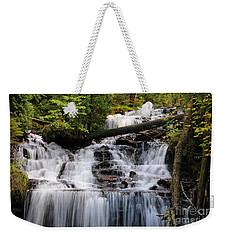 Woods And Waterfall Weekender Tote Bag