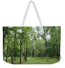 Woods At Lake Redman Weekender Tote Bag by Donald C Morgan