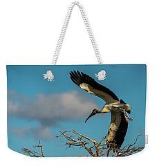 Woodstork In Flight Delray Beach Florida Weekender Tote Bag