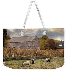 Weekender Tote Bag featuring the photograph Woolen Fields by Robin-lee Vieira