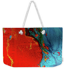 Words Abstract Weekender Tote Bag