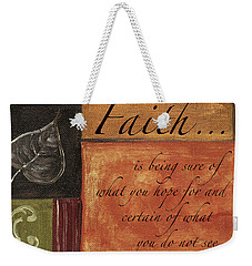 Words To Live By Faith Weekender Tote Bag