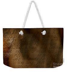 Words Winding Weekender Tote Bag