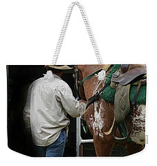Work Day Ends Weekender Tote Bag by Kim Henderson