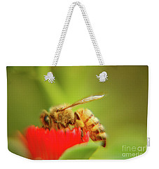 Weekender Tote Bag featuring the photograph Worker Bee by Micah May