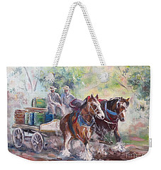 Working Clydesdale Pair, Victoria Breweries. Weekender Tote Bag