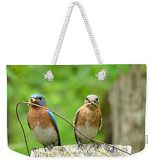 Working Couple Weekender Tote Bag by Rand Herron