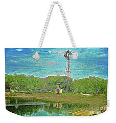 Weekender Tote Bag featuring the photograph Working Windmill  by Ray Shrewsberry