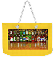 Weekender Tote Bag featuring the photograph World Beers By Kaye Menner by Kaye Menner