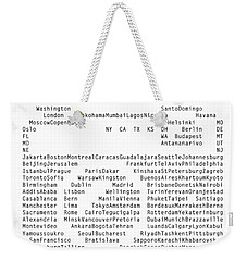 World Cities To Visit Weekender Tote Bag