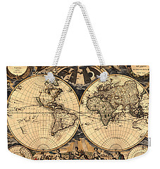 World Map 1666 Weekender Tote Bag by Andrew Fare