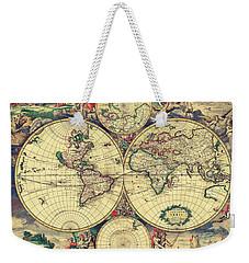 World Map 1689 Weekender Tote Bag