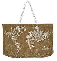 World Map Blueprint 4 Weekender Tote Bag by Bekim Art