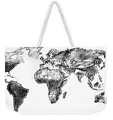 World Map In Graphite Weekender Tote Bag by Heidi Kriel