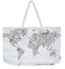 World Map Music 10 Weekender Tote Bag