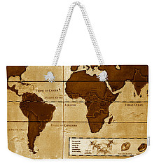 World Map Of Coffee Weekender Tote Bag
