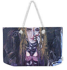 Weekender Tote Bag featuring the painting World Of Hurt by Reed Novotny