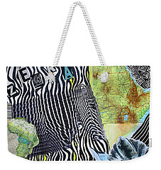 World Of Zebras Weekender Tote Bag