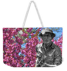 Weekender Tote Bag featuring the photograph World War I Buddy Monument Statue by Shelley Neff